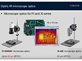 optris IR microscope optics